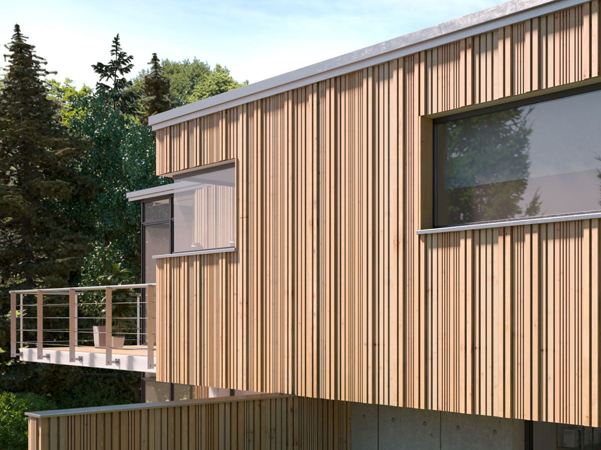 holzrahmenbau konstruktion und dmmung holzfassade. Black Bedroom Furniture Sets. Home Design Ideas